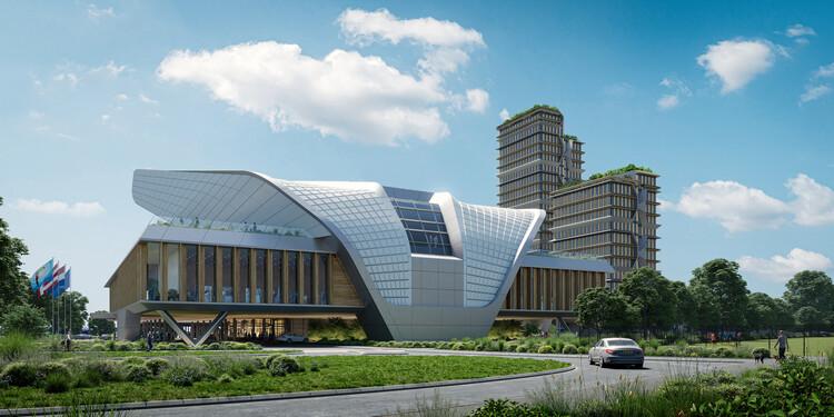 UN Studio projeta novo congresso e centro de conferências nos Países Baixos, Cortesia de  UNStudio