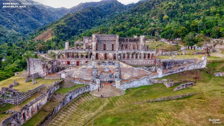 7 palacios históricos en todo el mundo reconstruidos en renders, Sans Souci, Haiti. Image © Budget Direct
