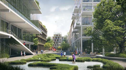 Transformation of the brownfield area in Náchod city. Image Courtesy of LETO Architects