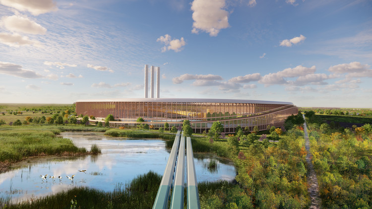 Bjarke Ingels Group utiliza princípios de sustentabilidade em projeto de usina metalúrgica , Cortesia de Bjarke Ingels Group