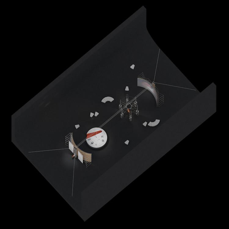 """LSA Lab ašių matavimas, 2021. © Julijonas Urbonas ir """"Isora x Lozuraityte"""" studija. Vaizdo suteikė Lietuvos kosmoso agentūra"""