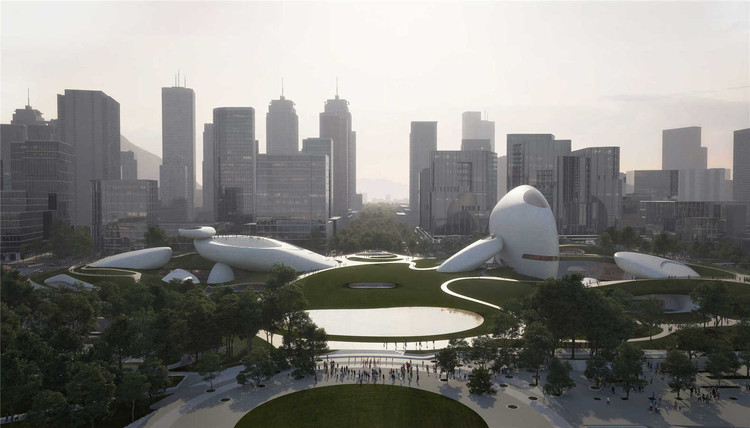 """""""Shenzhen Ten Cultural Facilities of New Era"""" Winning Proposals Revealed, Shenzhen Bay Culture Park. Image Courtesy of Proloog"""
