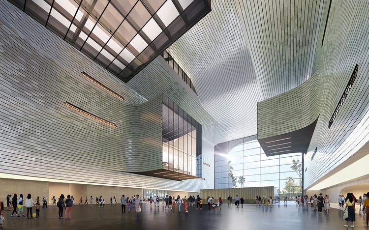 Shenzhen Science & Technology Museum. Image Courtesy of Zaha Hadid Architects