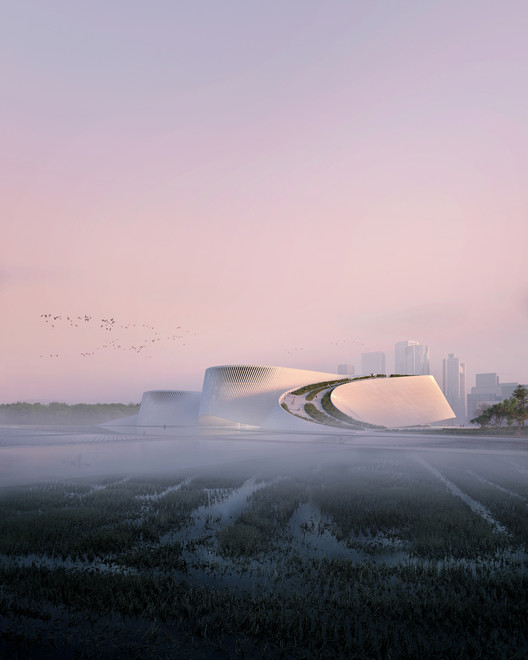 New Shenzhen Natural History Museum. Image Courtesy of 3XN
