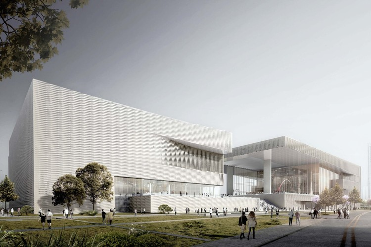 Shenzhen Art Museum New Venue . Image Courtesy of KSP Jürgen Engel Architekten International GmbH