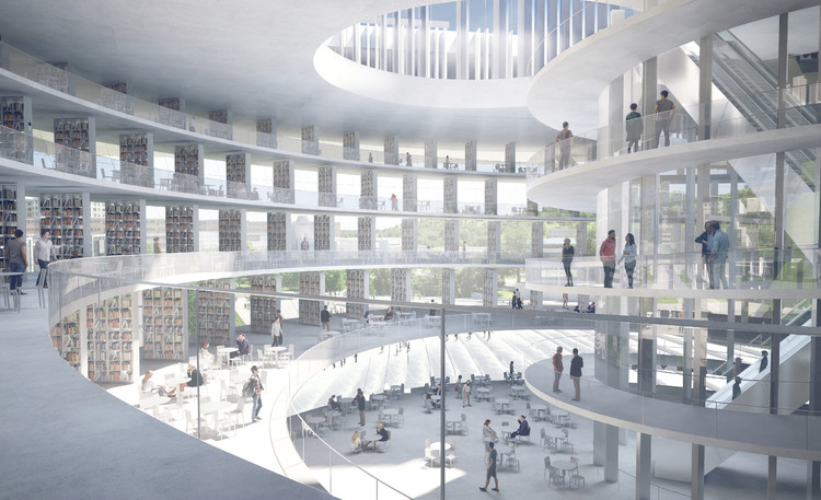 Shenzhen's Institute of Design and Innovation. Image Courtesy of Dominique Perrault Architecture