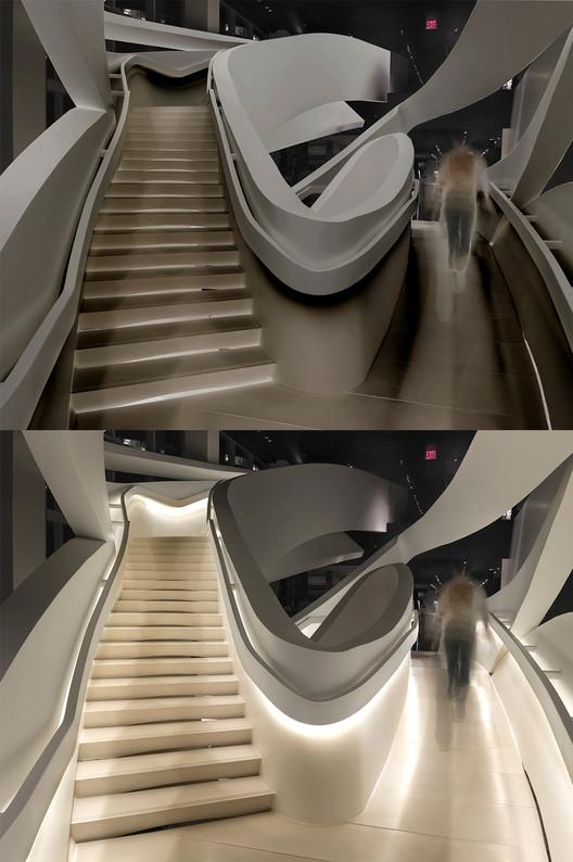 Armani Fifth Avenue, New York. Architect: Fuksas Architects. Lighting design: Speirs + Major. Photo: Allan Toft.. Image © Speirs + Major