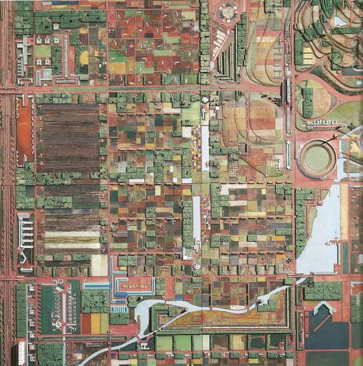 Broadacre City by Frank Lloyd Wright. Image Courtesy of Juan Miró
