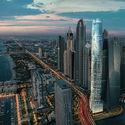 أطول فندق في العالم ، سيل ، قيد الإنشاء في مرسى دبي.  الصورة بإذن من المجموعة الأولى