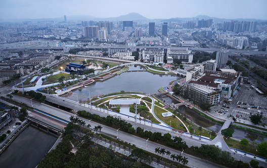 Haoxiang Park Overview Daytime. Imagem © Yong Zhang