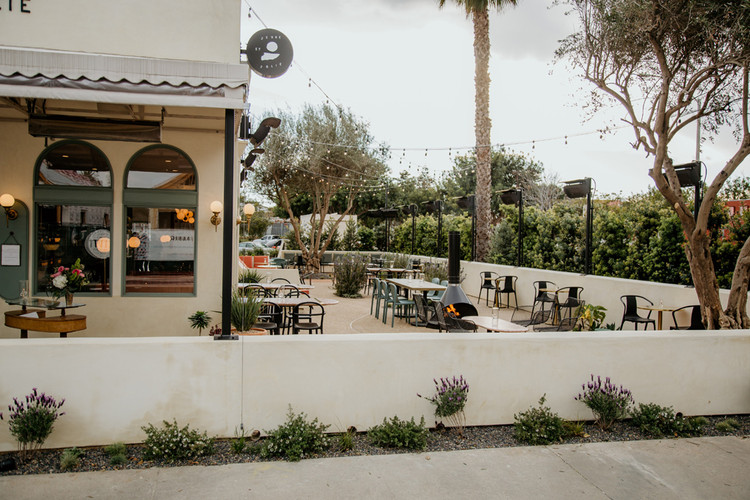 The patio is now a permanent fixture of Jeune et Jolie in Carlsbad, California.. Image Courtesy of Devin Castaneda