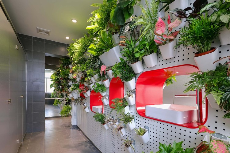 PP Garden / Popular Architecture Office.  green wall.  Image courtesy of the People's Architecture Bureau