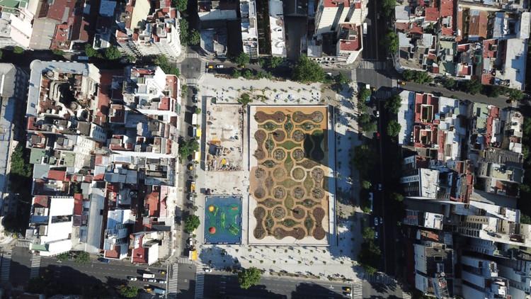 Manzana 66: La Plaza de los Vecinos en Buenos Aires, Vista aérea de la Manzana 66 en el barrio de Balvanera. Ciudad Autónoma de Buenos Aires, Argentina. Image vía Gobierno de Ciudad Autónoma de Buenos Aires Bajo Licencia CC BY 2.5 AR