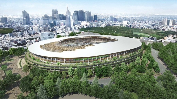 Tokyo 2020 Olympic Stadium. Image © Japan Sports Council / Via Curbed