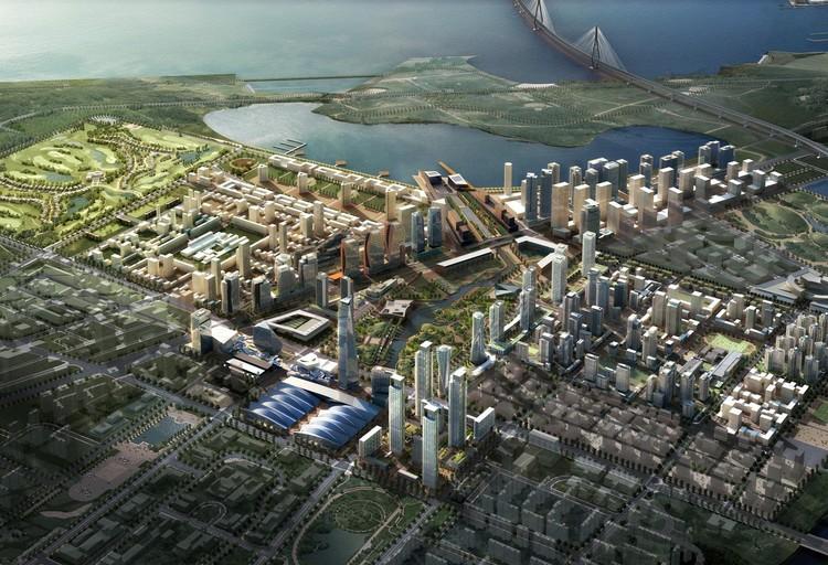 Membangun Kota dari Awal: Kisah Songdo, Korea, Rencana Induk Songdo.  Gambar Courtesy of KPF