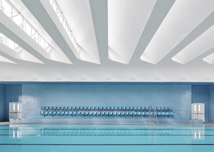 gym canteen and swimming pool. Image © Jonathan Leijonhufvud