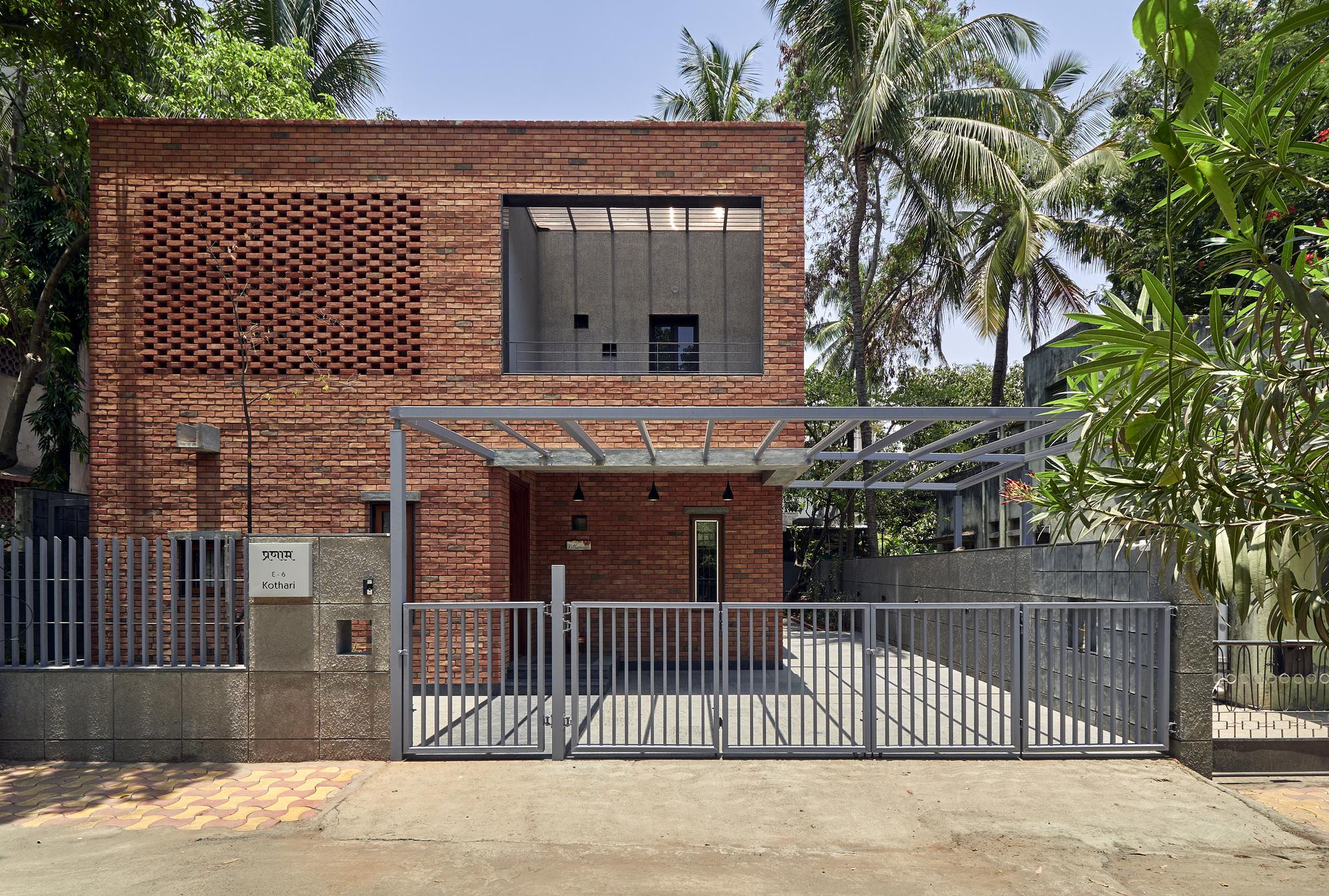 Brick Abode Alok Kothari Architects Archdaily
