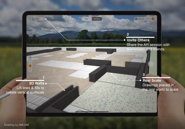 Morpholio AR Sketchwalk: a mais nova ferramenta imersiva de realidade aumentada para arquitetos. Cortesia de Morpholio
