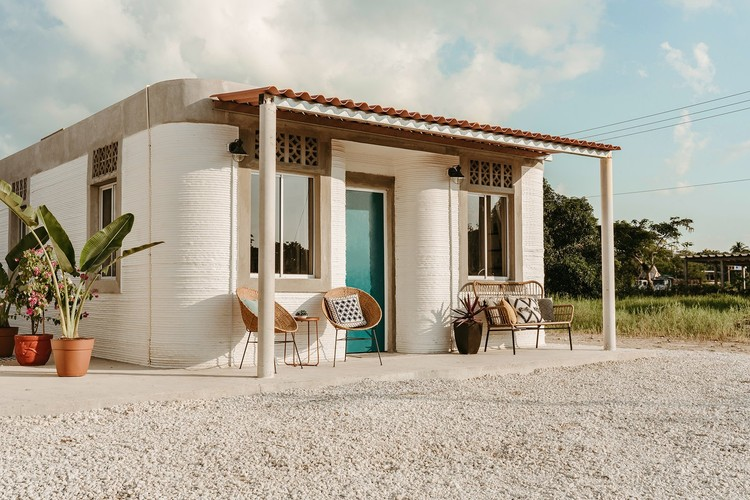 ICON and New Story Affordable Housing - Tabasco, Mexico. Image © Joshua Perez