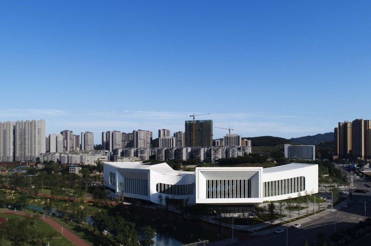 aerial view of the building. Image © Yuan Ma