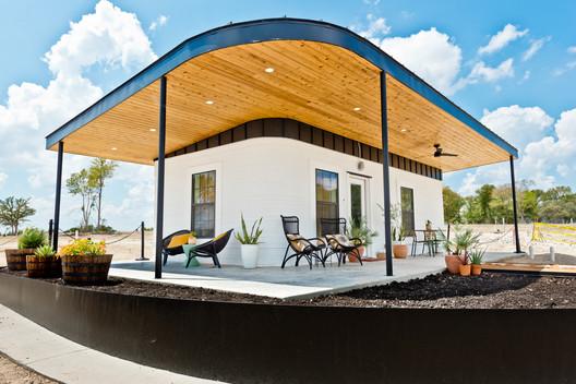 Impressão em 3D do Centro de Boas-Vindas Community First Village -Austin TX- Sept2019.. Imagem © Regan Morton Photography