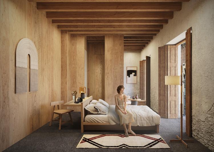 """A-001 Taller de arquitectura + Dellekamp / Schleich + Esrawe Studio presentan """"Hotel en el Centro Histórico"""" en la Ciudad de México, Cortesía de A-001 Taller de arquitectura + Dellekamp / Schleich + Esrawe Studio"""