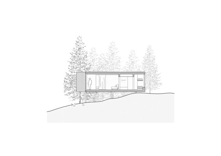 Shelters for Hotel Bjornson / Ark-shelter. Image
