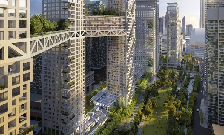 Safdie Architects divulga imagens de empreendimento urbano de uso misto em Toronto, Cortesia de Safdie Architects