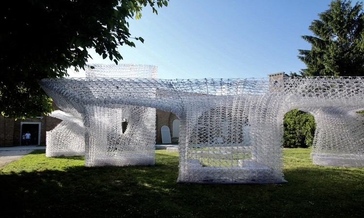 Robot-Printed 'Cloud Village' / Philip Feng Yuan's Team. Image Courtesy of Philip Feng Yuan