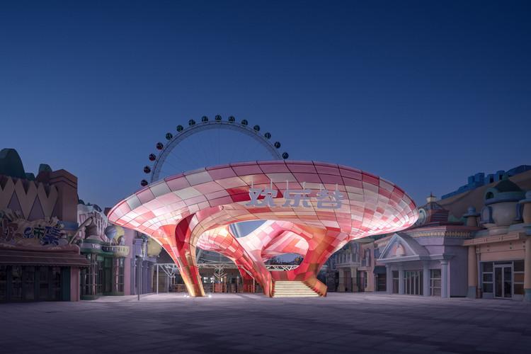 3D Printed Pavilion  Archi-Union Architects + Fab-Union. Image Courtesy of Schran Image