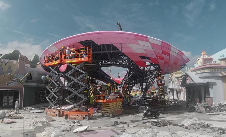3D Printed Pavilion  Archi-Union Architects + Fab-Union. Image Courtesy of Archi-Union Architects