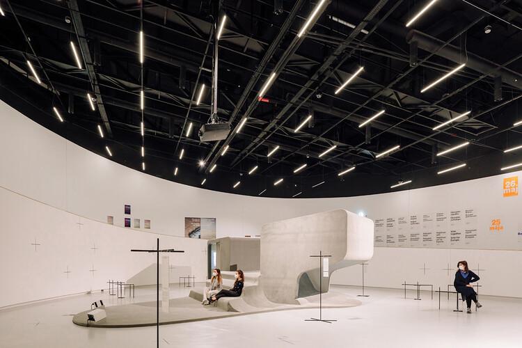 Exposição X Não é um País Pequeno / BUREAU, X Não é um País Pequeno - Desvendar a Era Pós-Global, vista da instalação: Bricklab, Tactile Cinema, 2021. maat – Museum of Art, Architecture and Technology (Lisbon), 2021. Image © Francisco Nogueira
