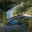 aerial view of pedestrian bridge. Image © Timeraw Studio