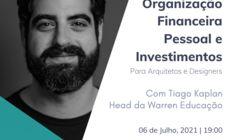 Webinar: Organização Financeira Pessoal e Investimentos para Arquitetos e Designers