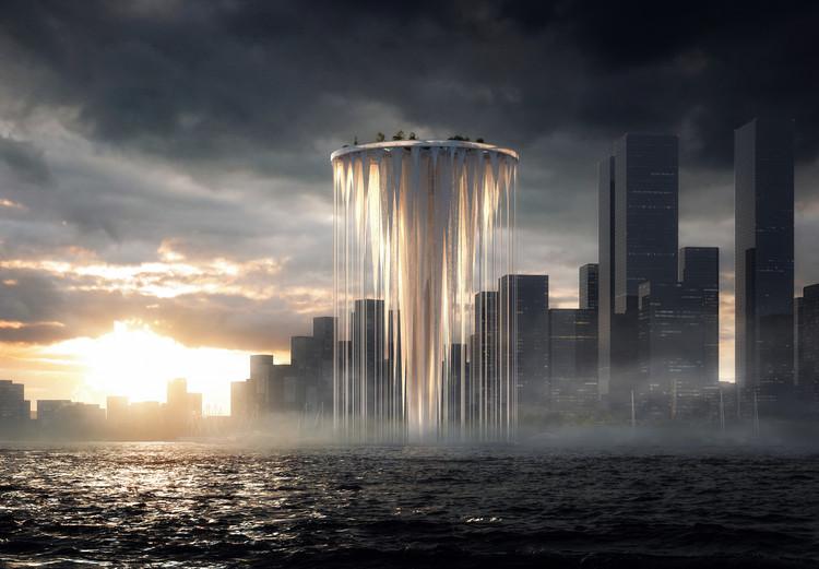 Sou Fujimoto diseña una torre flotante para el centro de Qianhai, China, Cortesía de Sou Fujimoto Architects