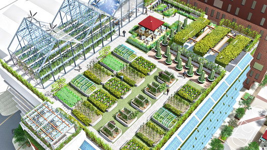 Future City Food Hub. Image Courtesy of Chris Jones and Brian McCarthy