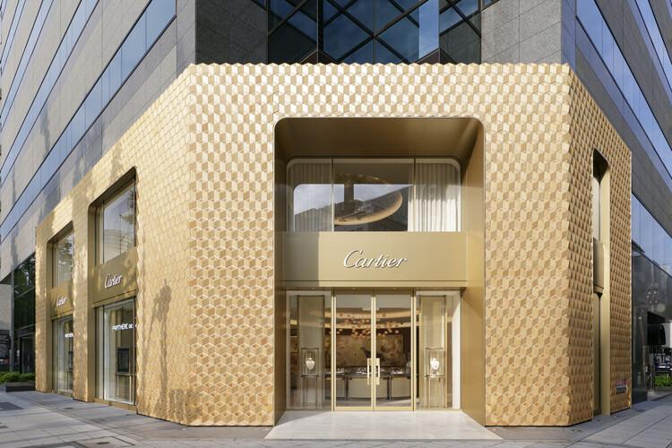 Cartier Shinsaibashi Façade / Klein Dytham architecture, Courtesy of Cartier
