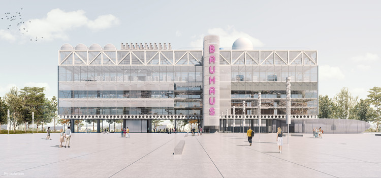 Estudiantes de arquitectura reimaginan la Bauhaus en el siglo XXI, Primer premio. Image Cortesía de arkitekturo