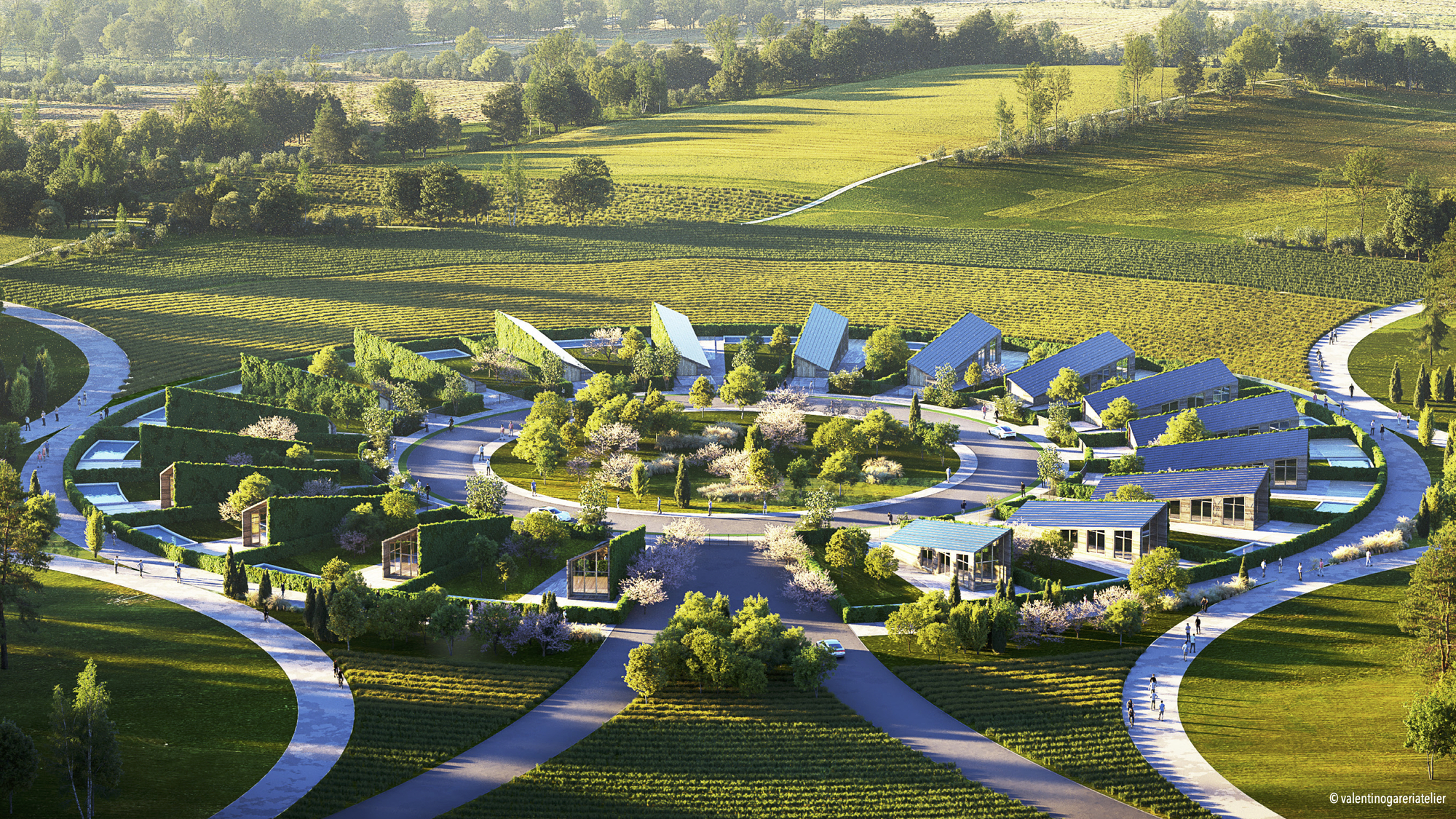 Valentino Gareri Atelier Proposes a New Model of Sustainable and 3D Printed Residential Village