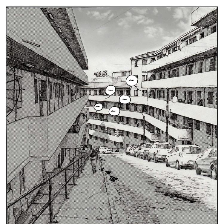 La experiencia arquitectónica del comic: Un lenguaje para la atmósfera y el lugar , Población Quebrada Márquez. Image Cortesía de Isis Zúñiga Campos