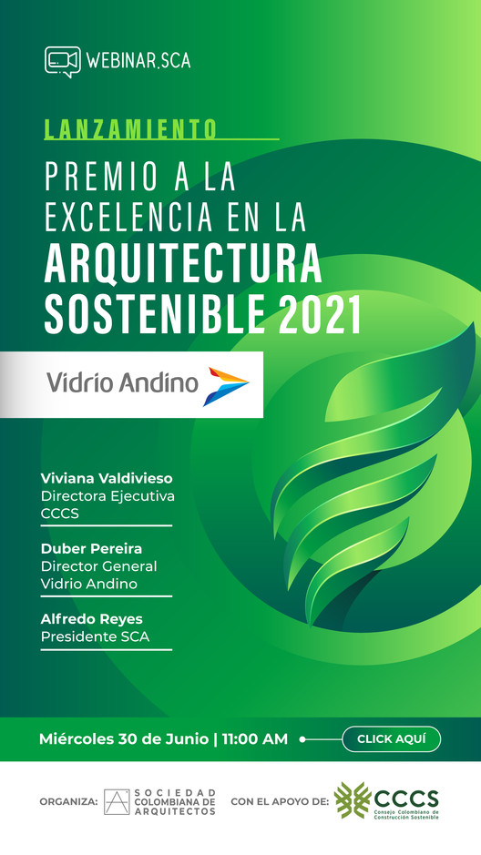 Premio a la Excelencia en la Arquitectura Sostenible 2021: Evento de Lanzamiento, Sociedad Colombiana de Arquitectos