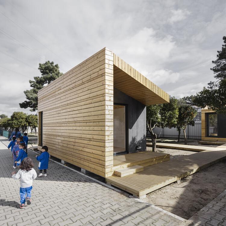 Salas Modulares da International School of Palmela / Estúdio AMATAM, © Sérgio Garcês Marques
