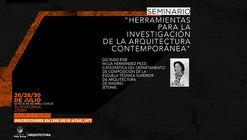 Seminario: Herramientas para la investigación de la arquitectura contemporánea
