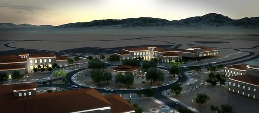 Рендеринг в высоком разрешении.  Проект: Форт Блисс, расположенный в Эль-Пасо, штат Техас.  Изображение предоставлено SketchUp