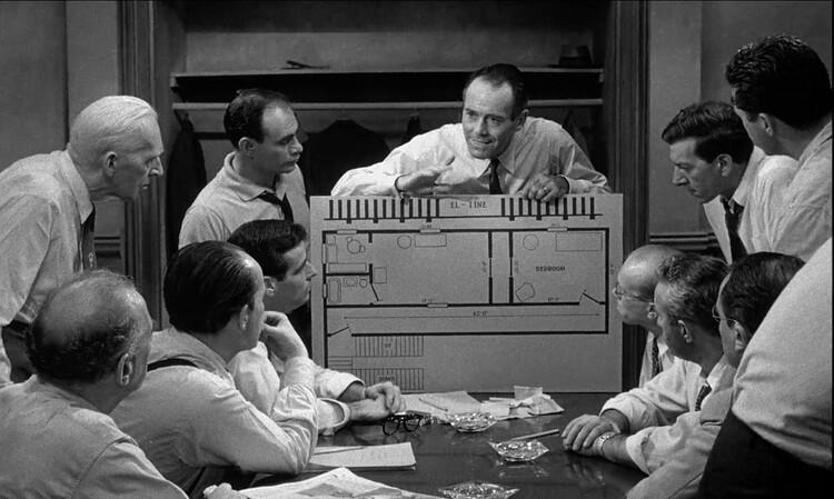"""A arte da ficção: a figura do arquiteto no cinema, Henry Fonda em """"12 Angry Men"""". Screenshot do filme"""