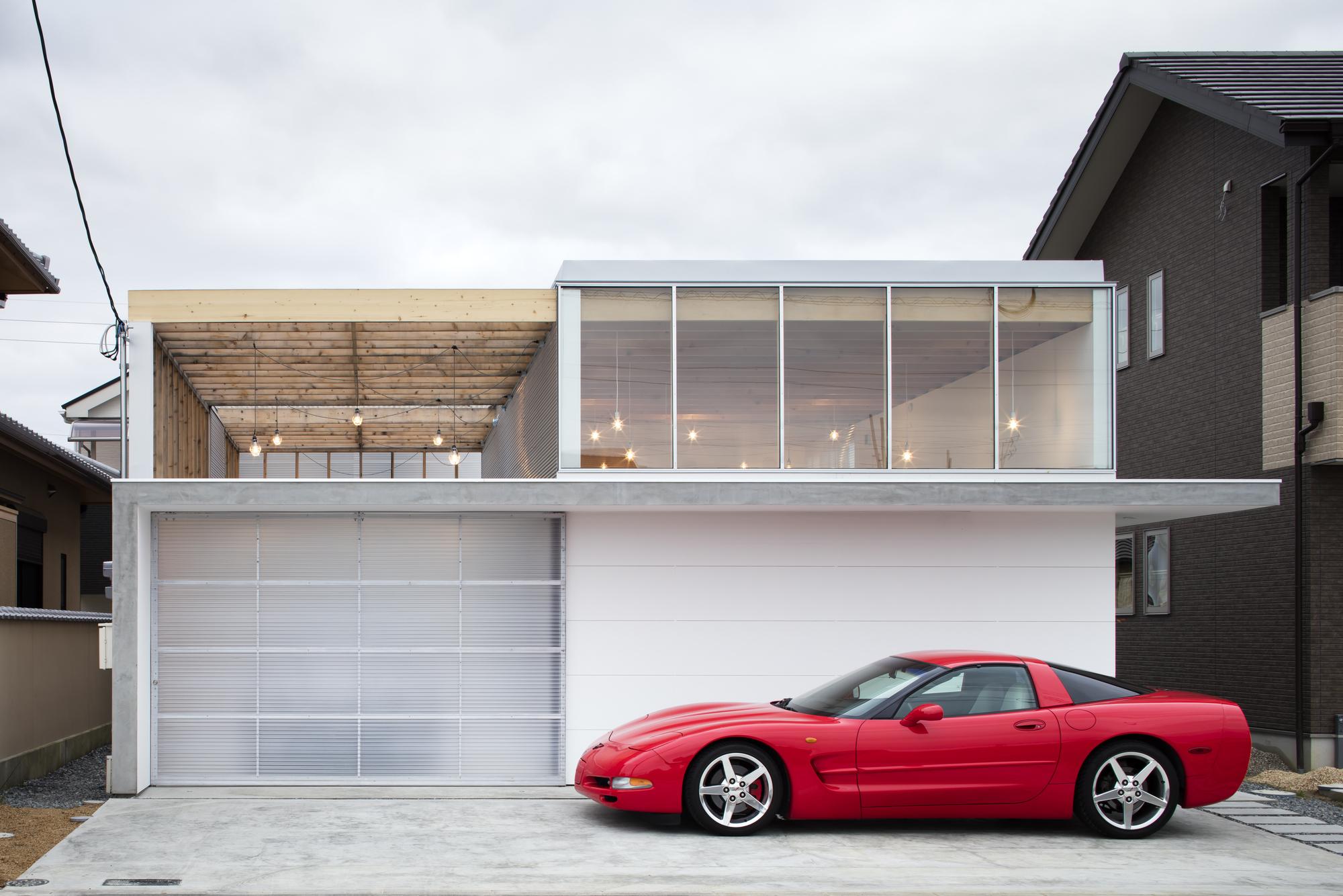 Garage Terrace House Yoshiarchitects Archdaily
