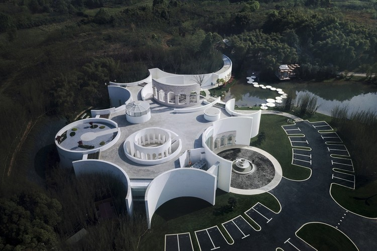 Sino-Italian Cultural Reception. Image Courtesy of aoe architects