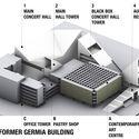 Pristina Gërmia Concerts Hall's. Image Courtesy of Pacarizi Studio + Arber Sadiki architects
