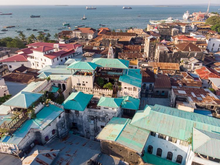 Aerial view of Stone Town, Zanzibar.  Image © Gideon Ikigai via Shutterstock