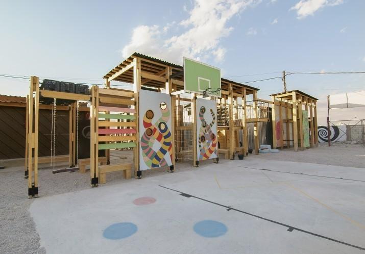CatalyticAction Designs Playgrounds for Refugee Children in Bar Elias, Lebanon. Courtesy of CatalyticAction